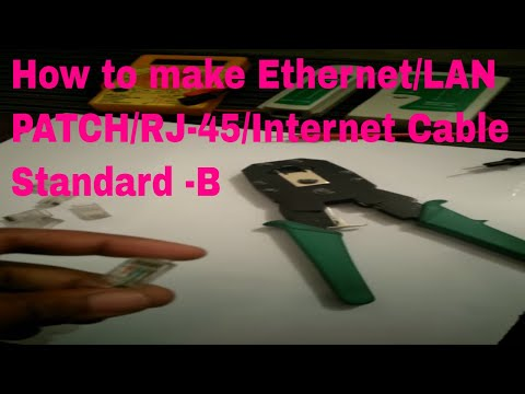 How to Crimp RJ45 to Cat5e or Cat6 cable | How to make RJ45 Network Patch Cable & wire color pattern