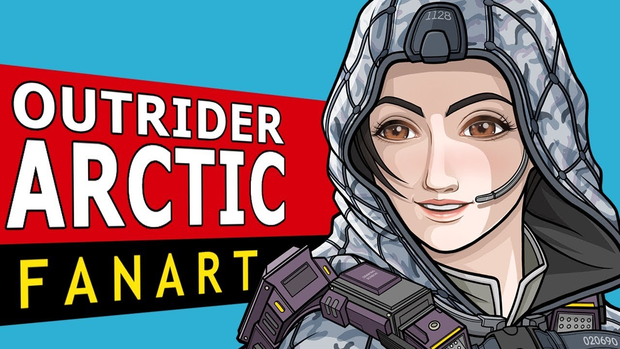 Outrider Arctic Of Call Of Duty Mobile Anime Fanart Speedpaint Youtube