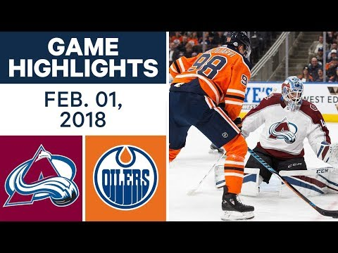 NHL Game Highlights | Avalanche vs. Oilers – Feb. 1, 2018
