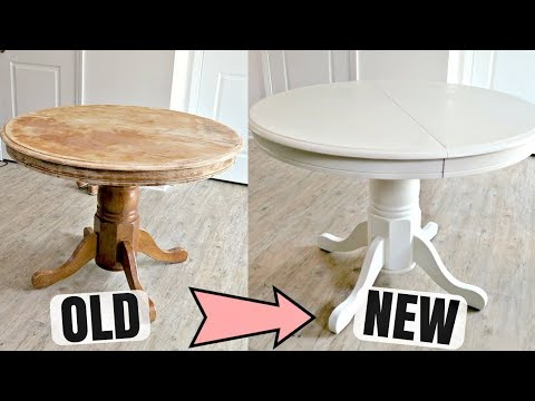 How To Refinish A Wooden Table With Chalk Paint | DIY