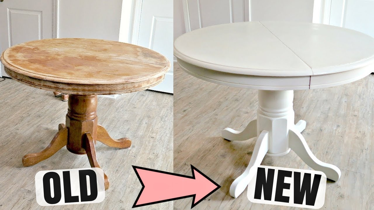 Tisch Lackieren How To Refinish A Wooden Table With Chalk Paint | Diy