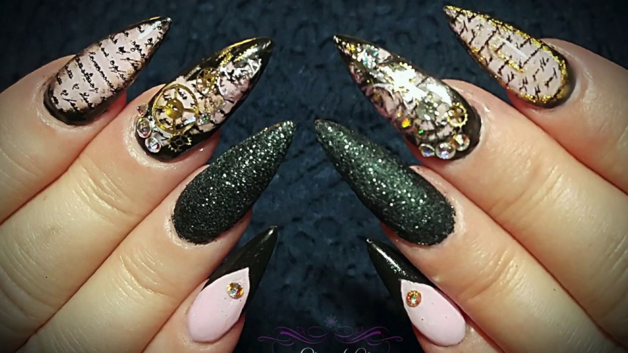 RIP Steampunk Nails   A Journey with Elite Nails - YouTube