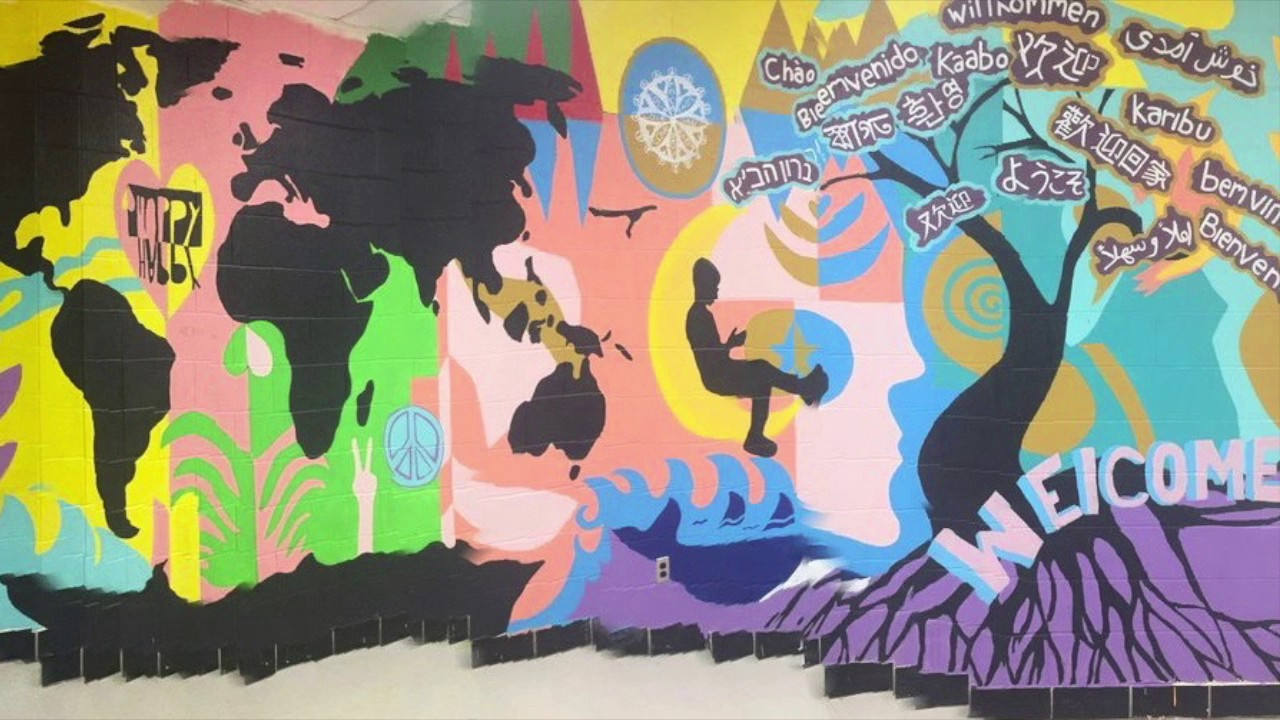 Scarlett Middle School Mural Unveiled Youtube