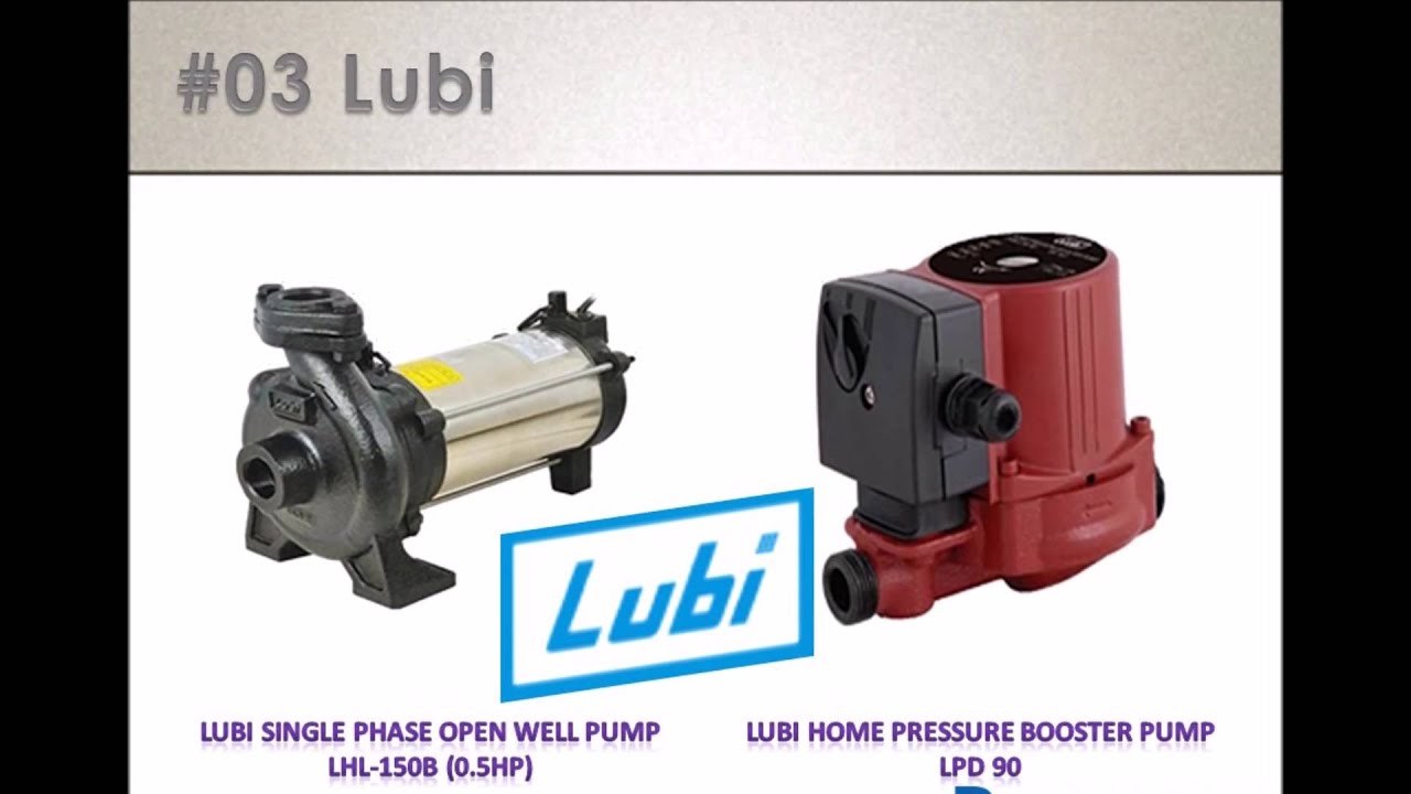 Which company's water pump should you choose? 8