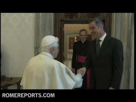 Pope receives prime minister of Montenegro, Milo Djukanovic