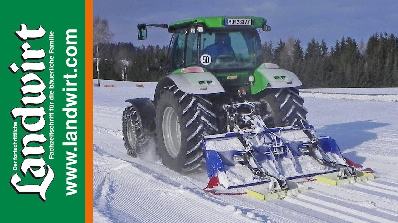 hpw snowliner loipenspurger t f r den traktor youtube. Black Bedroom Furniture Sets. Home Design Ideas
