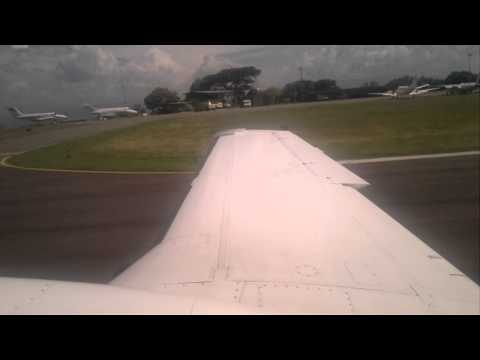 Landing airplane on Charallave's Airport - Venezuela