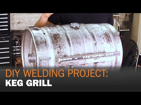 DIY Welding Project: MIG Welding a Keg Grill