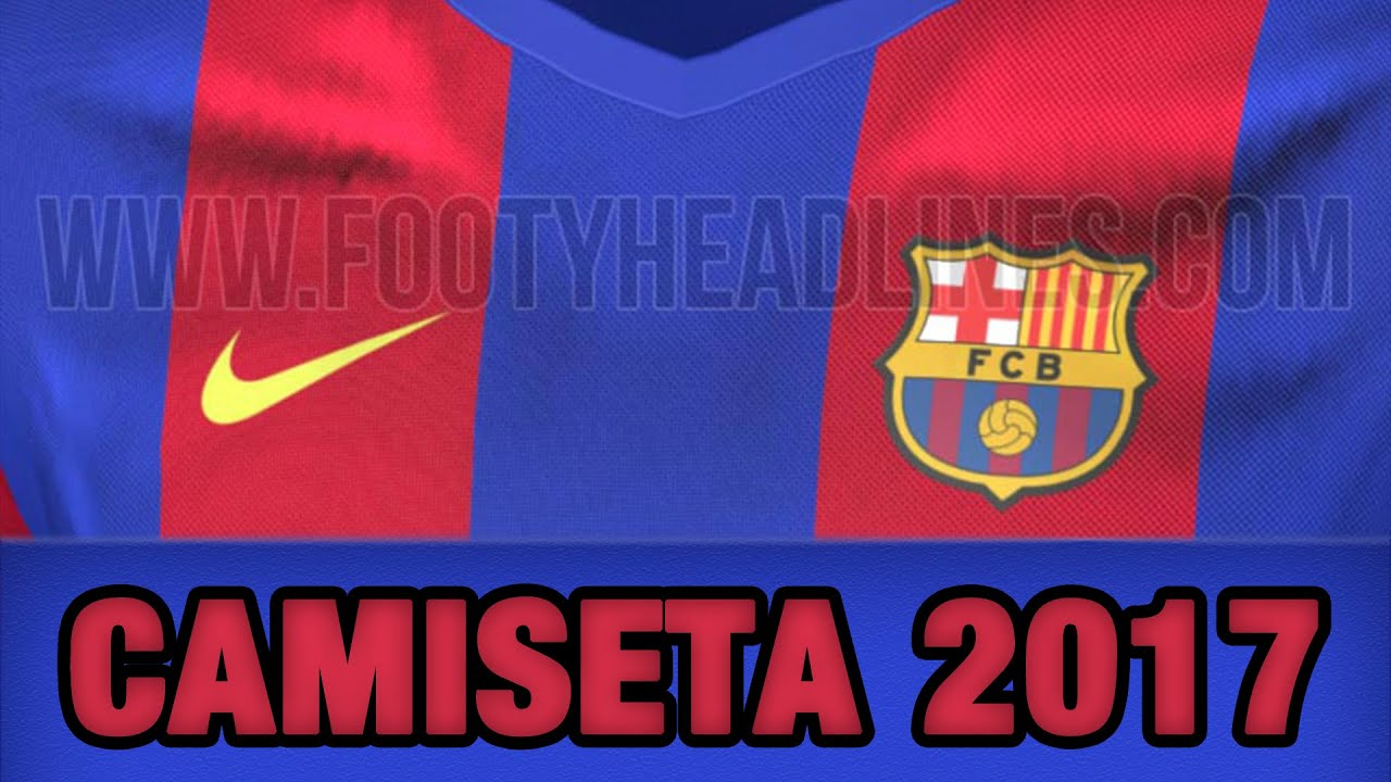CAMISETA FC Barcelona 2017 (OFICIAL)