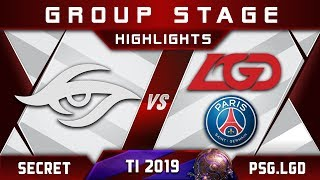 Secret vs PSG.LGD [TOP 1] TI9 Group A The International 2019 Highlights Dota 2