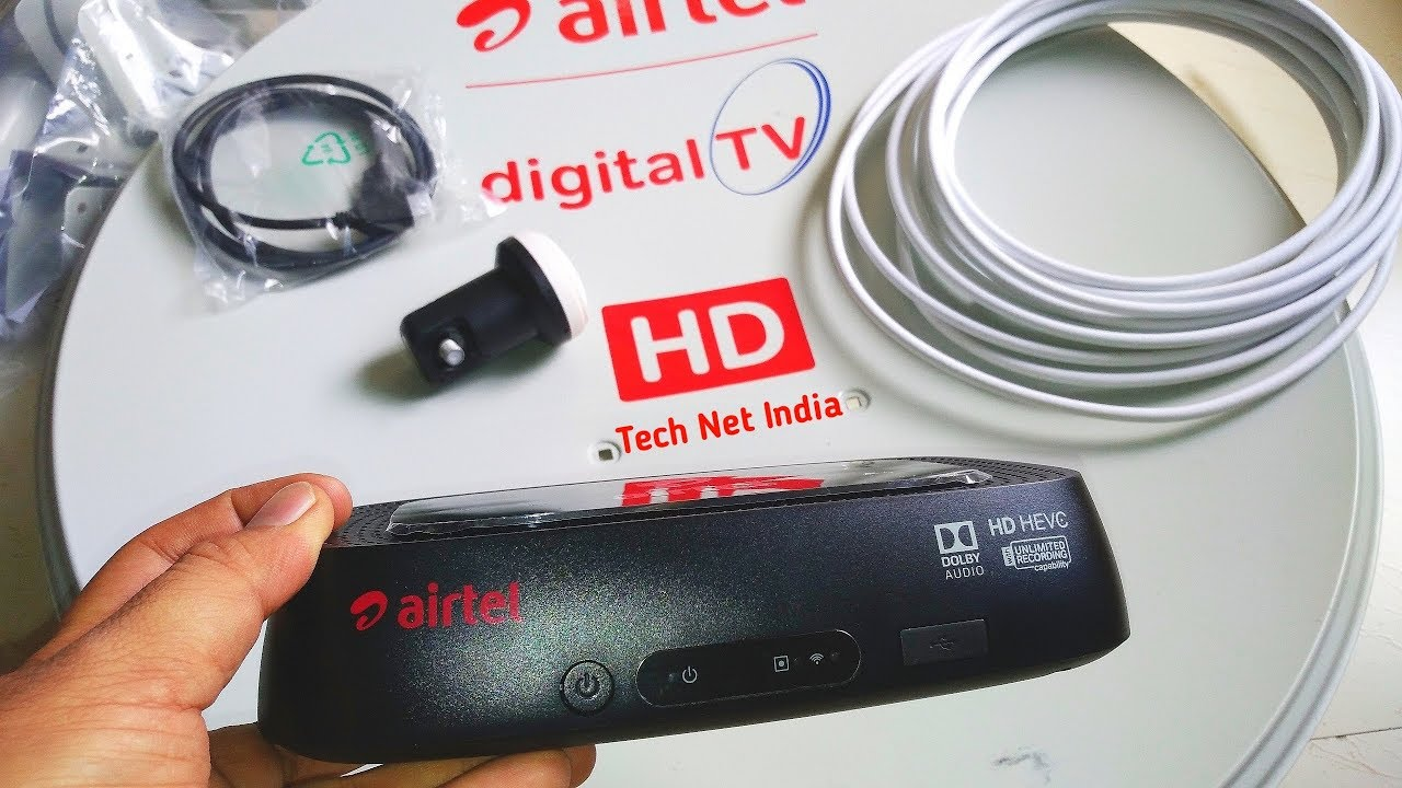 Airtel Digital TV HD HEVC Set Top Box Unboxing, Airtel TV DTH Unboxing