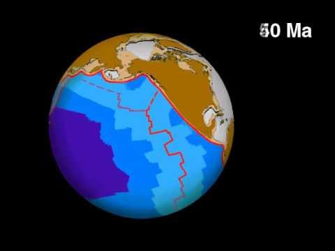 Northeast Pacific Ocean Seafloor Spreading