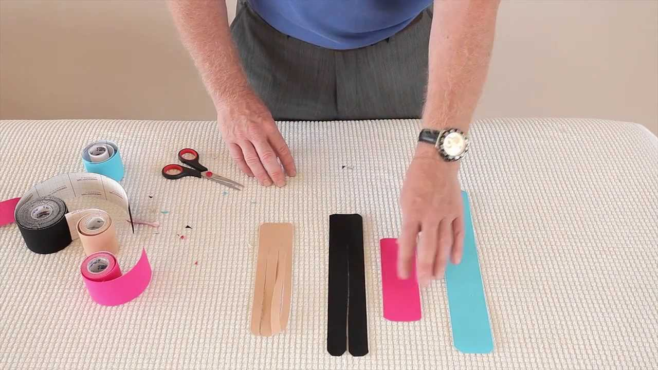 chaussures pour pas cher baskets vraie qualité How to prepare, cut and shape strips of Kinesiology tape for specific  sports injury applications
