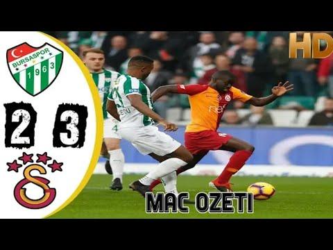 Galatasaray 3 - 2 Bursaspor Geniş Maç Özeti 17/03/2019 HD