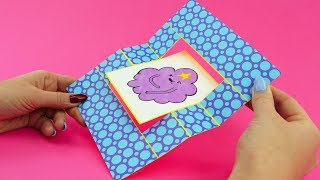 Adventure Time Swing Card DIY with Lumpy Space Princess and Bubblegum