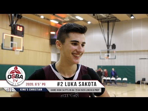 2020 PG Luka Sakota filled the score sheet with 34 points in King's Christian win