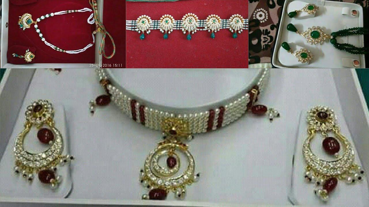 Rajputi Moti Haar set Design   Light Weight Moti Haram ...