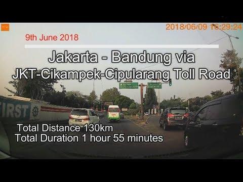 9/06/2018 Jakarta - Bandung Cipularang Toll Road Timelapse | #DashDriver #CARVLOG INDONESIA
