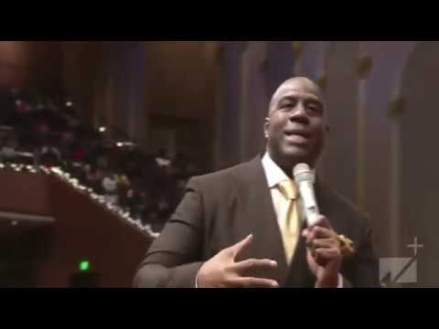 Sherry Mackey - Magic Johnson PREACHED at West Angeles COGIC