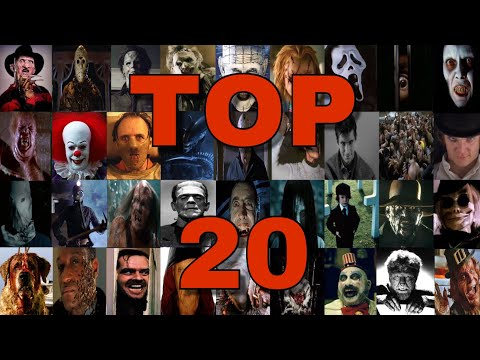My Top 20 Favorite Horror Movie Villains (Outdated)