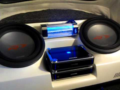 Classic Vw Beetle Convertible Sub Box And Two Alpine 12 S