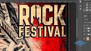 Создаём рекламный постер для рок-фестиваля в Фотошоп - 2