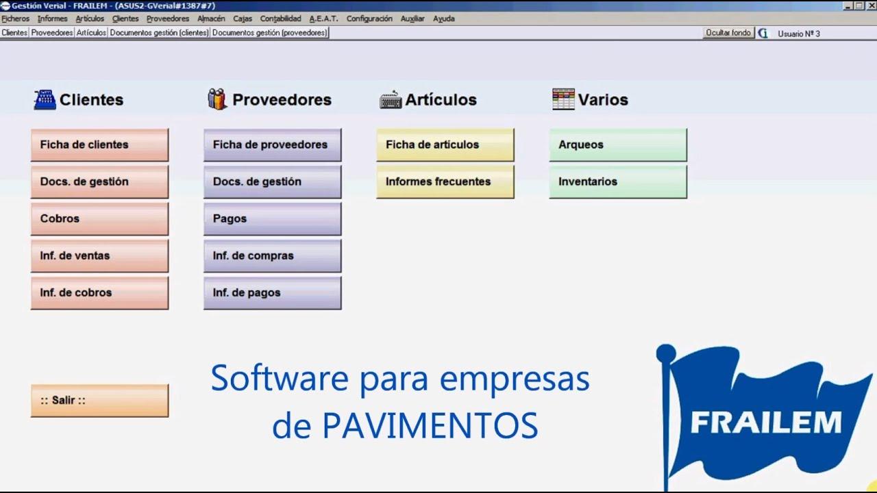 Software para gestionar empresas de Pavimentos - YouTube