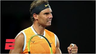 Rafael Nadal shines in 2nd-round win vs. Matthew Ebden | 2019 Australian Open Highlights