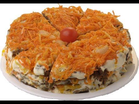 Закусочный Торт из рыбной  консервы \Кильки в томате\.Закуска из консервы.fish in tomato sauc  .