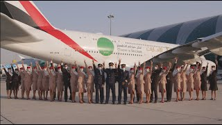 Emirates A380 flight EK2021 operated with fully vaccinated customers & cabin crew | Emirates Airline