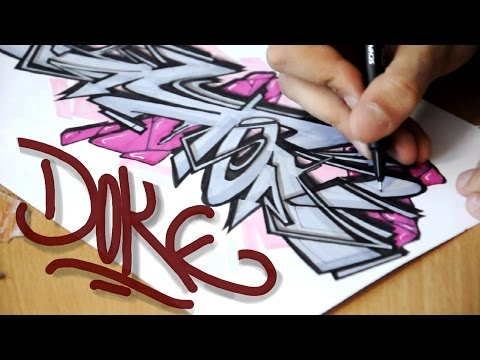 Doke - How to draw Graffiti Sketches #3