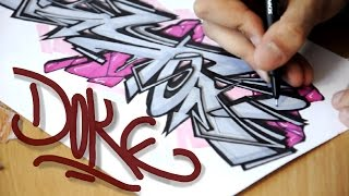 Doke - How to draw Graffiti Sketches #3(This video shows you how to make graffiti and graffiti sketches. For more videos subsribe my channel :) Or visit my FB page ..., 2015-03-08T14:29:19.000Z)
