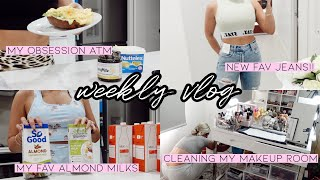 WEEKLY VLOG 🎬 NEW PLANT 😍🌱 WE SAW DOLPHINS 🐬 CLEANING MY BEAUTY ROOM 🤩🥳 UNBOXINGS 📦 JAZ HAND