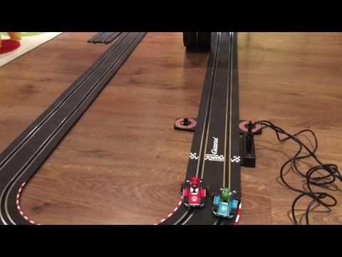 Mario Kart Electric Slot Car Carrera Racing Track With Loop Race Circuit