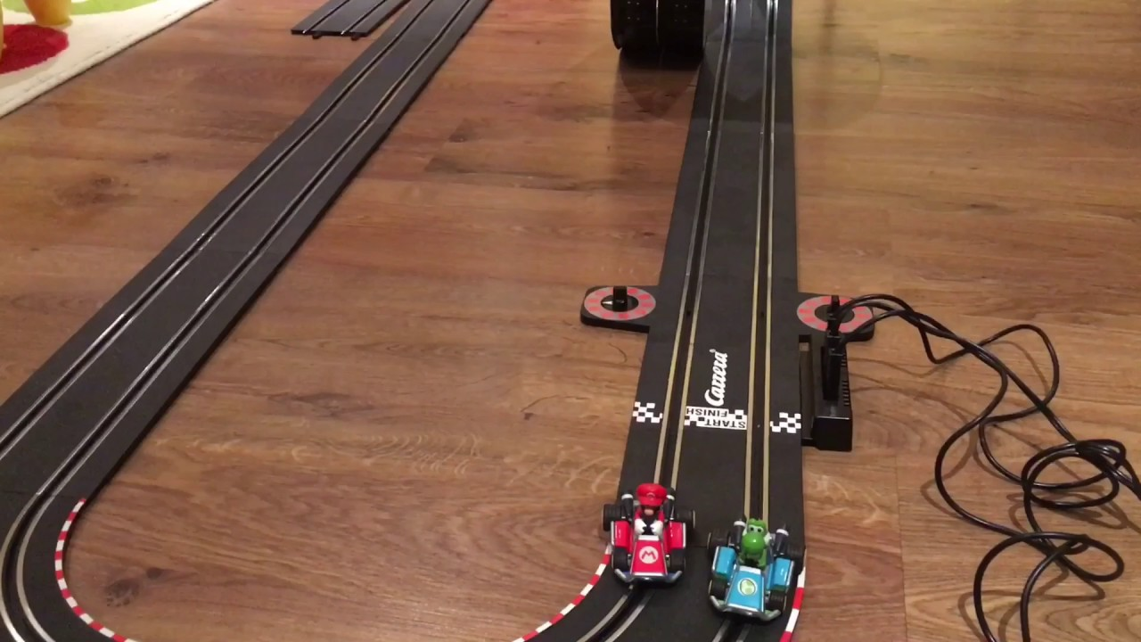 Mario Kart Electric Slot Car Carrera Racing Track With Loop Race Circuit