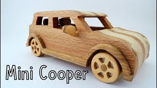 How To Make a Wooden Toy Mini Cooper | Wooden Miniature - Wooden Creations