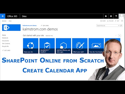 Create a Team Calendar - a SharePoint Online from Scratch tutorial