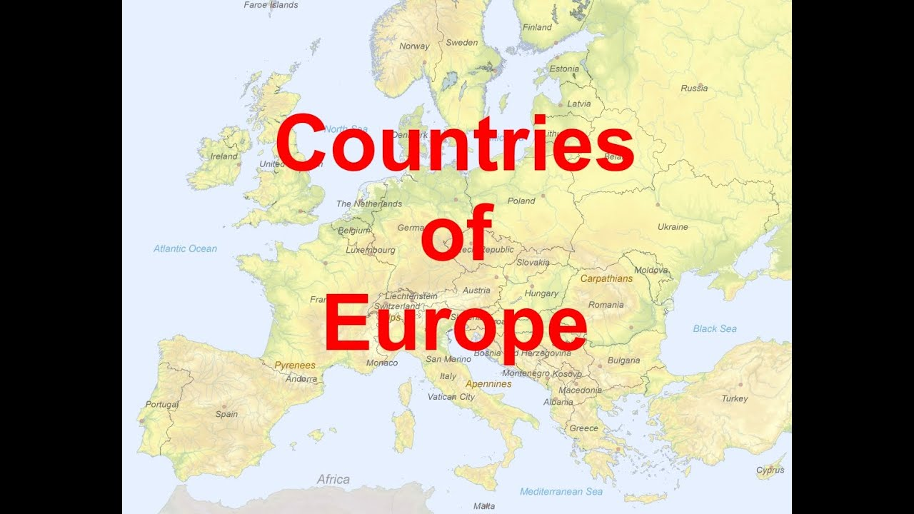 Map Countries Of Europe Youtube