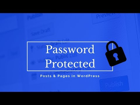 How to create PASSWORD PROTECTED POSTS and PAGES in WORDPRESS
