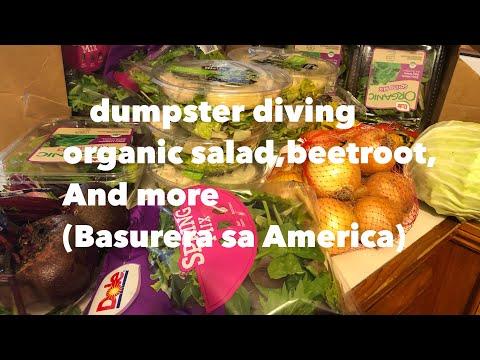 DUMPSTER DIVING/LOT ORGANIC SALAD,BEETROOT,at iba pa(basurera sa America)