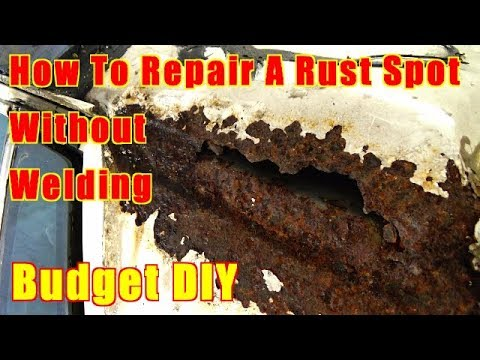How To Repair Rust On A Car Without Welding With Fiberglass/Box Chevy Caprice Vinyl Top Rust Repair
