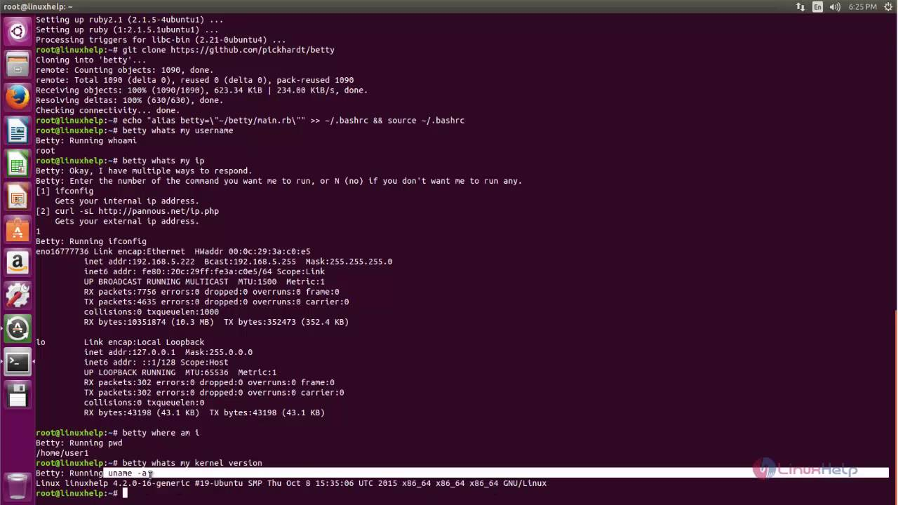 How to install Betty - command line virtual assistant tool