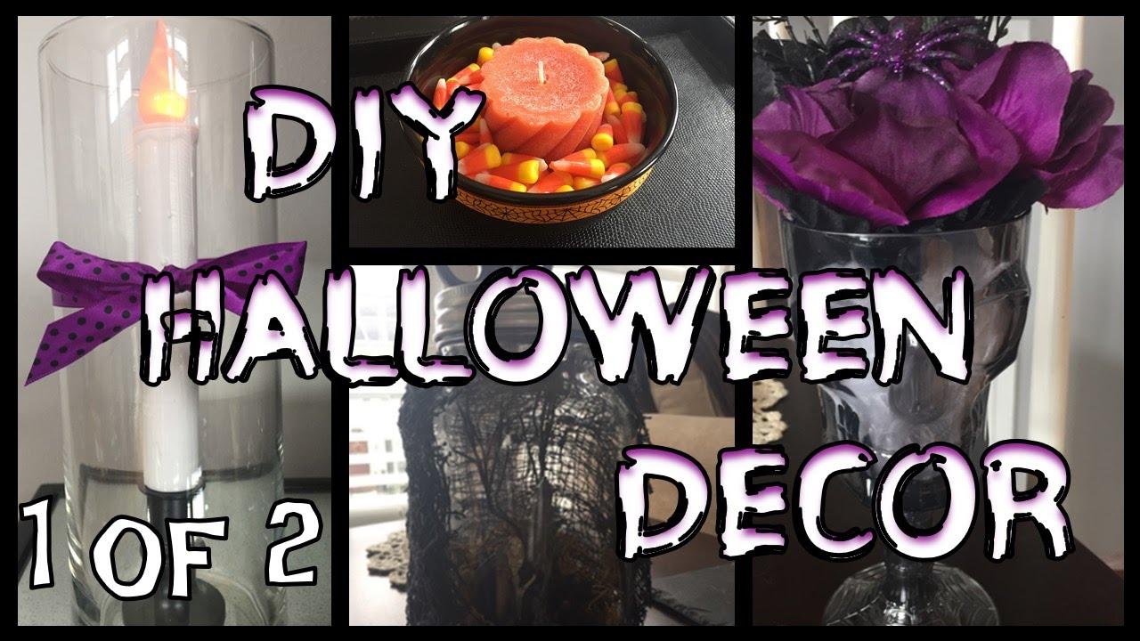 dollar tree diy halloween decor part 1 youtube