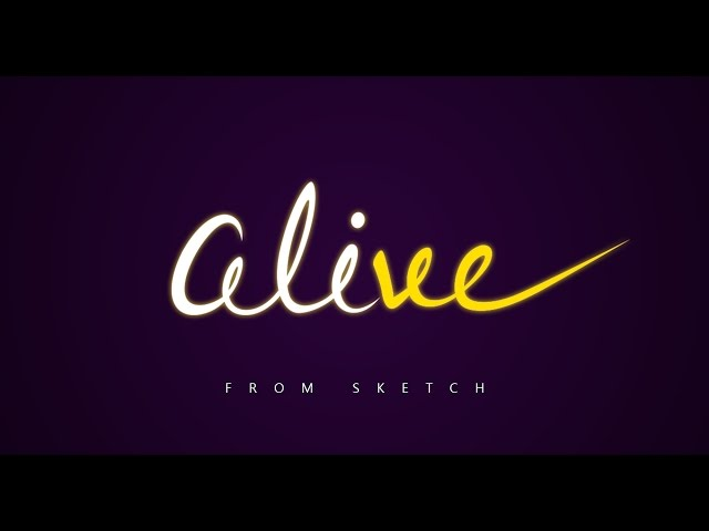 Lettering Tutorial | Photoshop & Illustrator | Alive logo