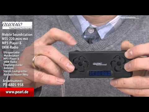 auvisio Mobile Soundstation MSS-220.mini mit MP3-Player & UKW-Radio