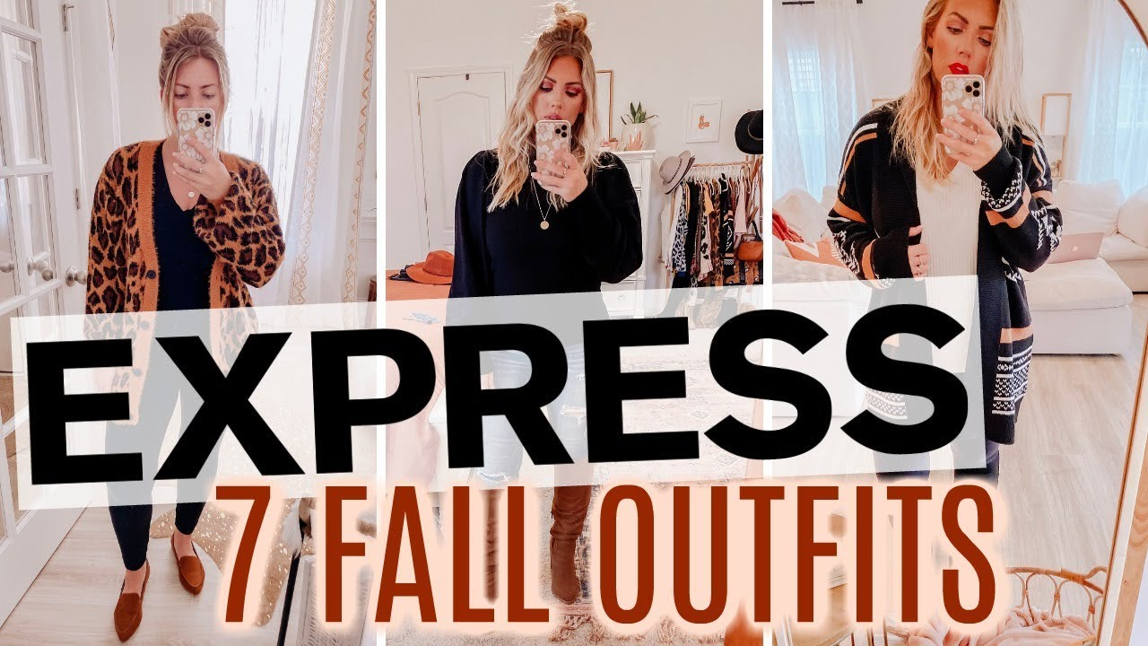 [VIDEO] - 7 FALL Outfits from EXPRESS   Cozy Fall Fashion 1