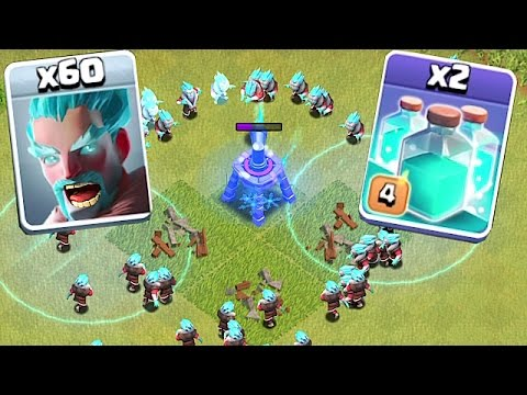 CLONE WARS!!!🔸ICE WIZARD + CLONE SPELL SWARM!!🔸Clash Of Clans