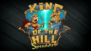 King of The Hill Logo - SpeedART - Minecraft Server Logo