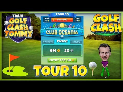 Golf Clash tips, Hole 2 - Par 4, Oasis - Club Oceania, Tour 10 - GUIDE/TUTORIAL