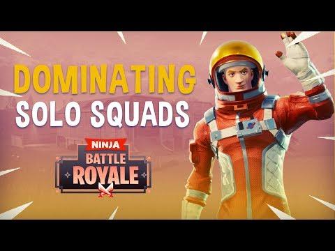 Dominating Solo Squads! - Fortnite Battle Royale Gameplay - Ninja